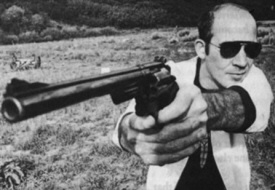 Hunter S. Thompson and gun