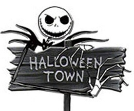 Nightmare Before Christmas Halloween Town Sign