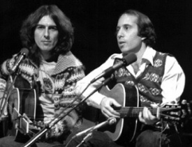 George Harrison and Paul Simon