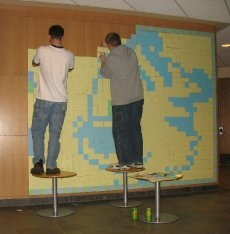 Calvin and Hobbes in Post-It Notes