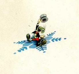 Jiminy Cricket Christmas Card