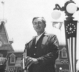 Walt Disney on Disneyland's opening day