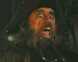 Ian McShane as Blackbeard in Pirates of the Caribbean: On Stranger Tides 3D