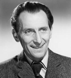 Peter Cushing smiling