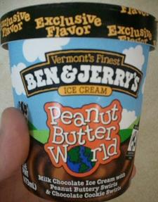 Ben and Jerrys Peanut Butter World Ice Cream