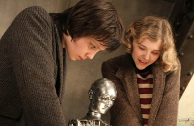 Asa Butterfield and Chloe Grace Moretz from Hugo