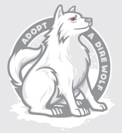 Adopt a Direwolf T-shirt from Threadless