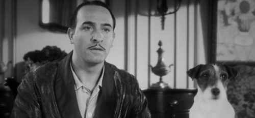 Jean Dujardin and Uggie from The Artist