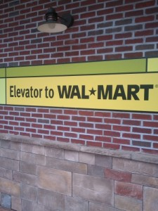 Elevator to Wal-Mart