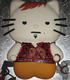 Hello Kitty Daryl Dixon from Walking Dead Cake