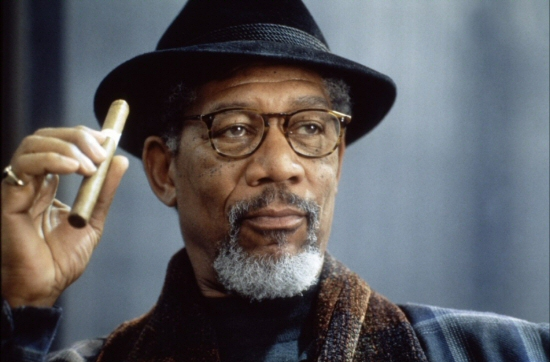 Morgan Freeman with cigar