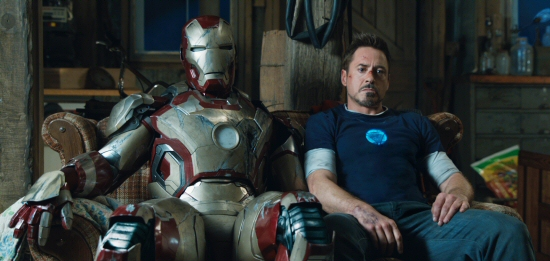 Robert Downey Jr. is Tony Stark and Iron Man in Iron Man 3