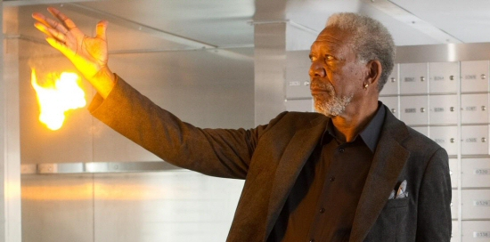 Morgan Freeman as Thaddeus Bradley in Now You See Me