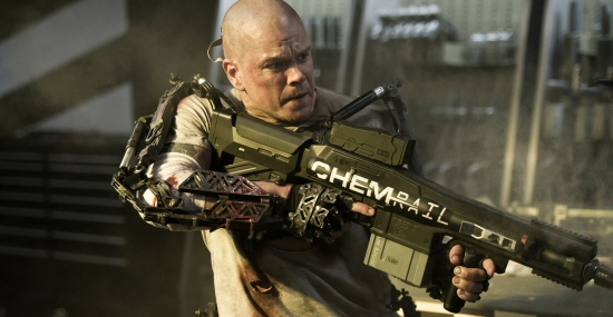 Matt Damon and railgun from Elysium