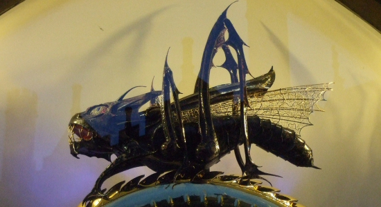 Chronophage Grasshopper Clock