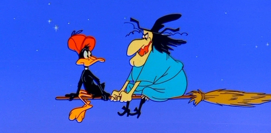 Daffy Duck and Witch Hazel: A Haunting We Will Go