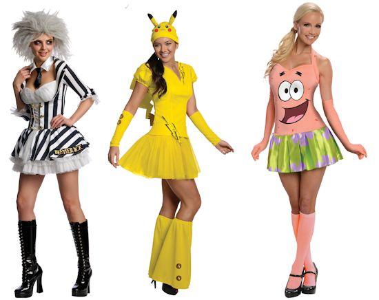 Sexy Beetlejuice, Sexy Pikachu, Sexy Patrick costumes